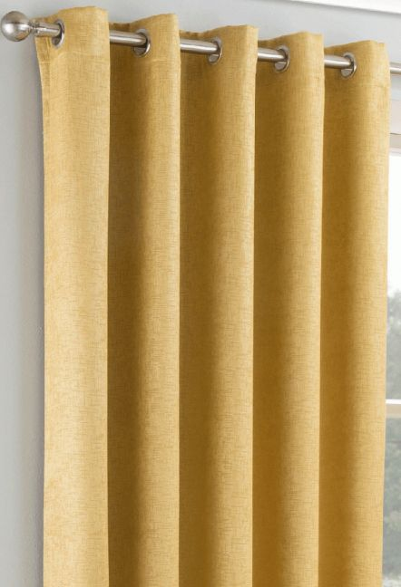 Conway Ochre Eyelet Curtains 1