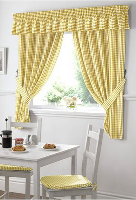 Dorothy Gingham Yellow Curtains